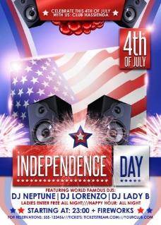 美国独立日庆祝海报