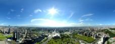 航拍东莞市中心图片