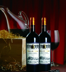 葡萄酒特写图片