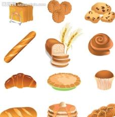 面包蛋糕点心图片