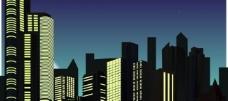 城市昼夜交替图片