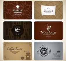 西餐厅名片卡片图片