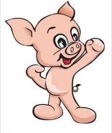 奋起卡通猪图片