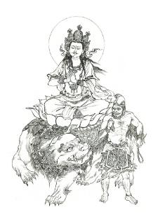 文殊菩萨图片