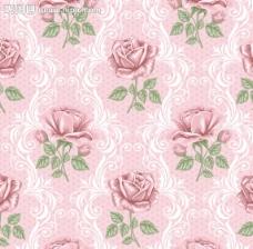 欧式田园花朵底纹图片