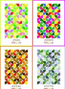 四季招貼藝術畫 裝飾畫圖片