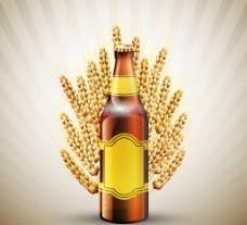 啤酒 麦穗图片
