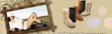 ugg雪地靴宣传广告图片