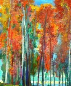油画红树林图片