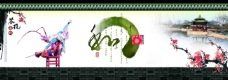 苏杭园林风格图案素材