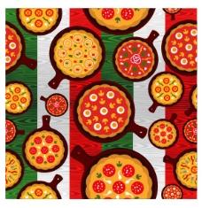 抽象矢量披萨