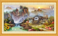 油画室内装饰画风景素材下载
