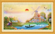 油画室内装饰风景素材下载