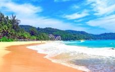 夏日海边海滩美景