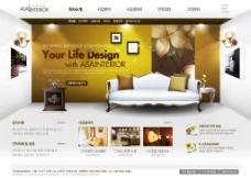 网页效果图 韩国模板图片