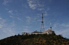 麻姑山图片 信号接收塔图片