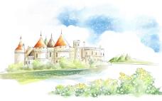 手绘 城堡