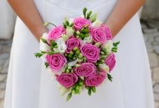 新娘手捧花高清素材图片