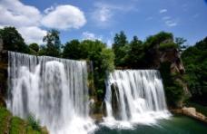 克罗地亚普利瓦瀑布图片