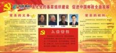 中国邮政党建展板图片