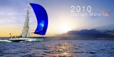 海上扬帆图片 企业画册图片素材