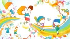 时尚幻彩运动儿童图片