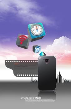 手机胶片和立体手机图标