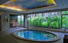 养生馆浴池图片