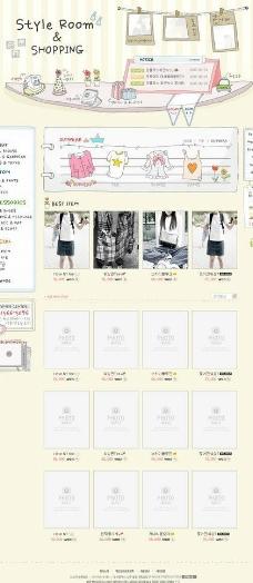 手绘购物商城网站图片