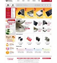 数码电子商城网页模板图片