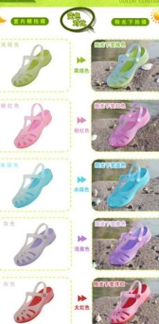 洞洞鞋子变色对比图图片