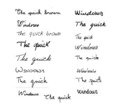 超酷的17款手写英文
