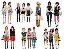 3D时尚女性抠图图片