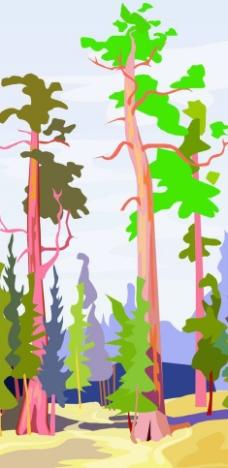 卡通森林图片