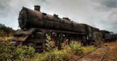 废旧火车图片