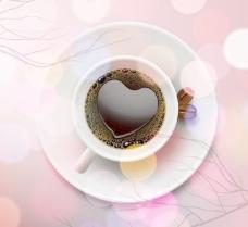 浪漫心形咖啡图片