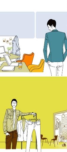 潮男服裝店櫥窗展示設計