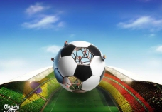 足球 球场 世界杯 天空图片