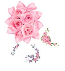 鲜花 粉色花束图片