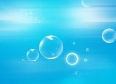 蓝色背景图片泡泡 科技 背景