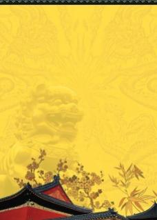 古典院墙背景图片