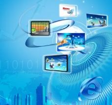 互联网e生活海报设计图片