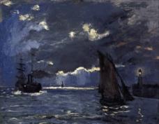 海上印象油画图片
