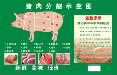 猪肉分解图