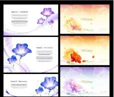 梦幻花纹花卉模板下载图片