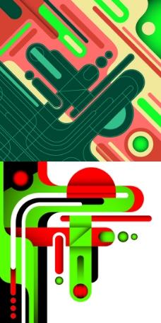 创意几何抽象背景矢量素材