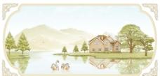 天鹅湖花片图片