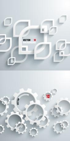 立体框架集合背景矢量素材