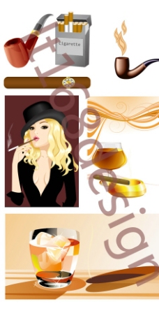 香烟矢量图图片