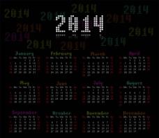 2014日历图片